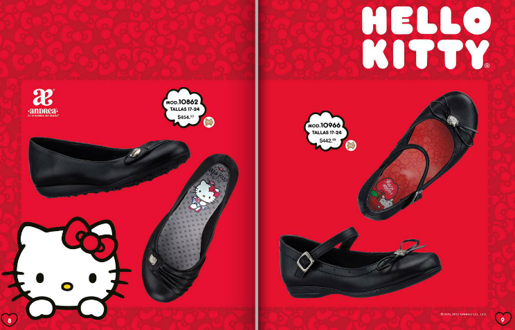 zapatos escolares Andrea Hello Kitty
