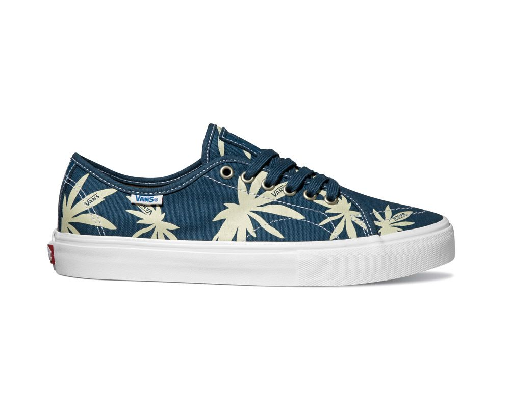 Vans Authentic en color azul agua con estampado playero