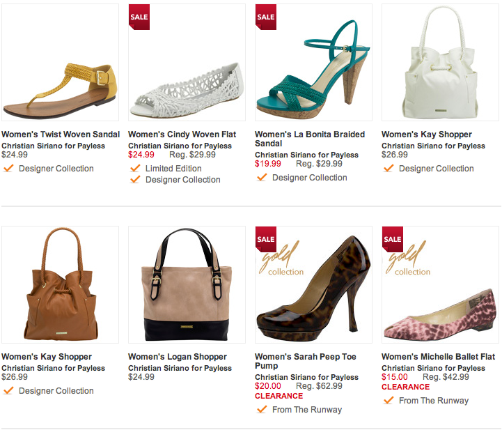 ofertas Payless shoes
