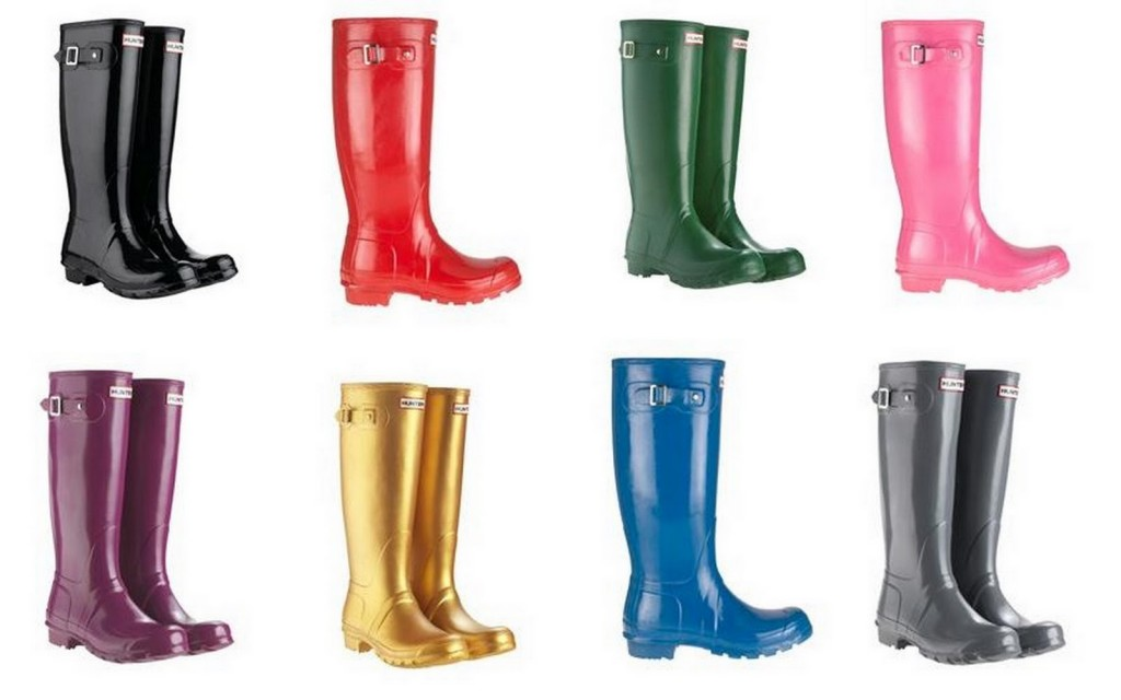 botas hunter de colores