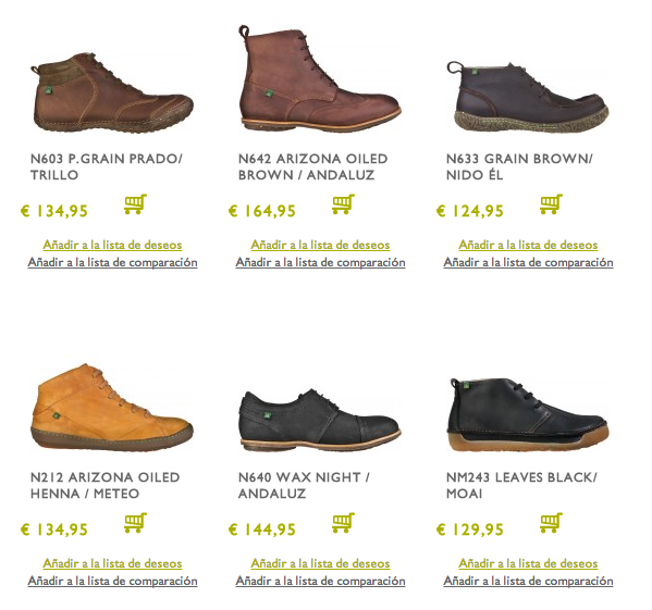 Zapatos El Naturalista Outlet
