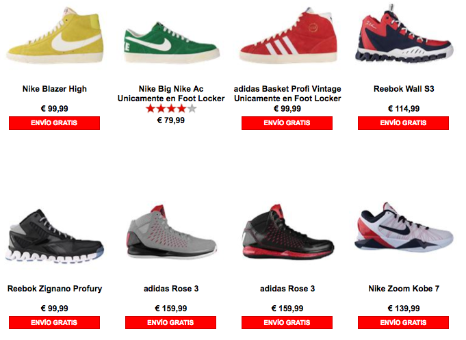 Catalogo foot locker españa 2013