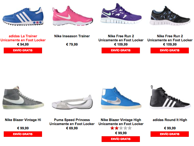 catalogo footlocker 2013