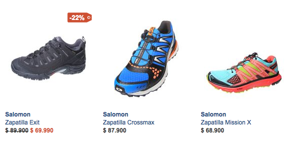 Outlet zapatillas Salomon Chile