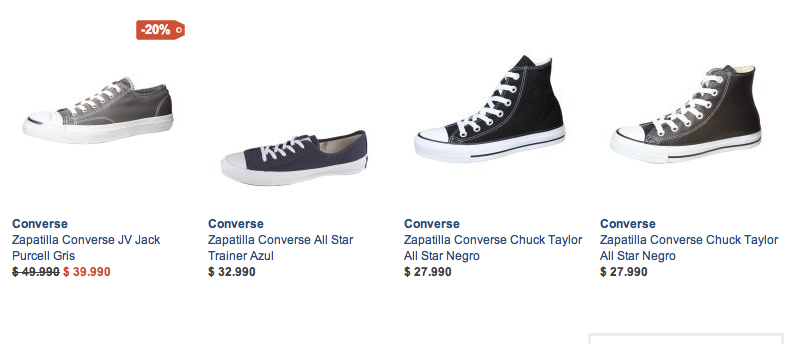 zapatillas Converse Chile