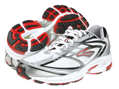 zapatillas running rojo blanco Brooks