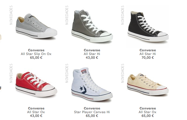 converse all star ox blancas baratas