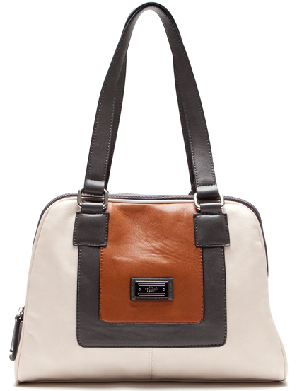 bolsa David Jones beige café