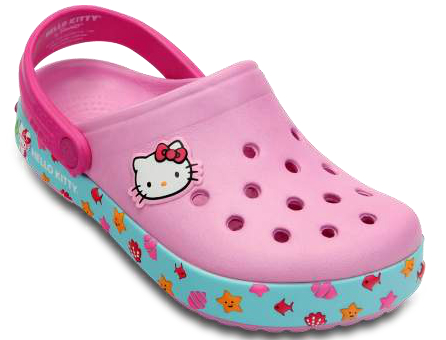 Hello Kitty niña zuecos Crocs