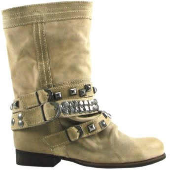 botas Bakers Shoes hebillas marfil