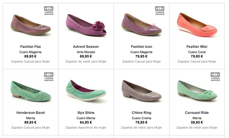 zapatos de mujer Clarks outlet