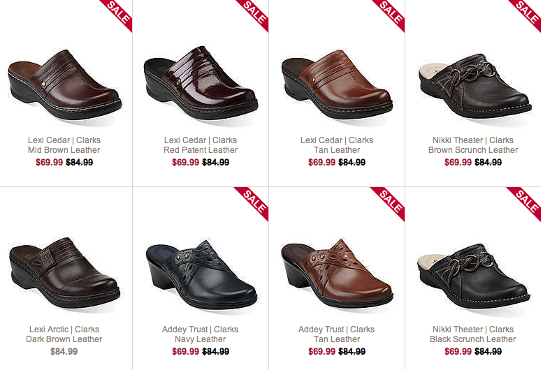 Clarks USA outlet mujer suecos