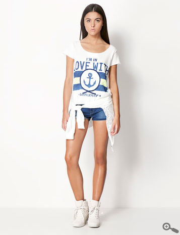 shorts denim chicas rebajas Bershka 2013
