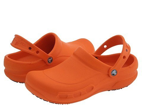crocs zapatos chef naranjas