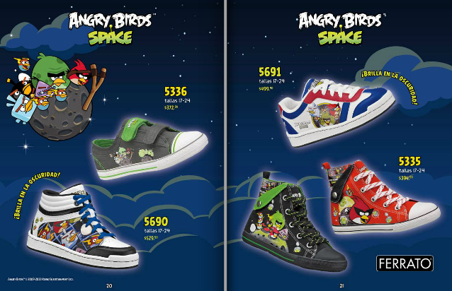 tenis Ferrato Kids 2013 Angry Birds