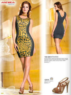 vestido estampado Animal Print Andrea