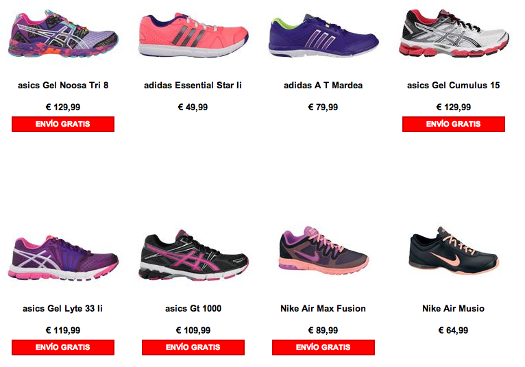 zapatillas running mujer multicolor Foot Locker Madrid