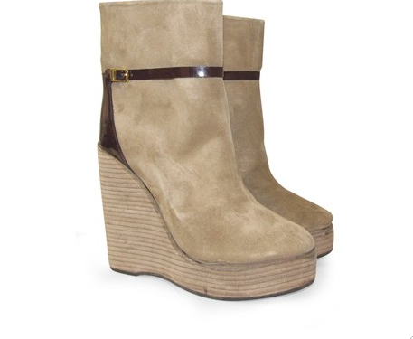 booties marfil Paruolo outlet cuero