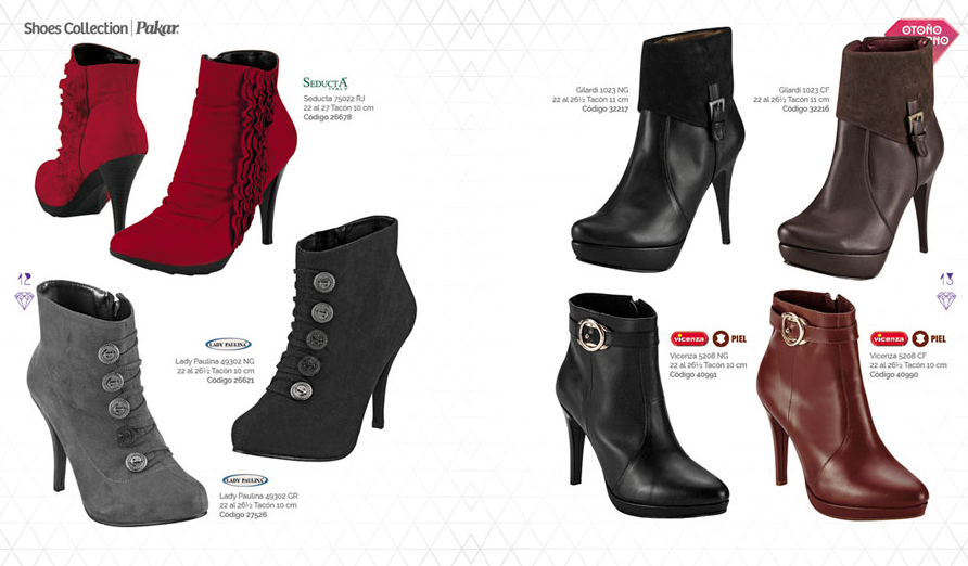 rojas grises botas Shoes Collection Pakar 2013 invierno