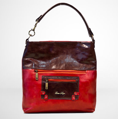 cartera XL Gondola rojo chocolate