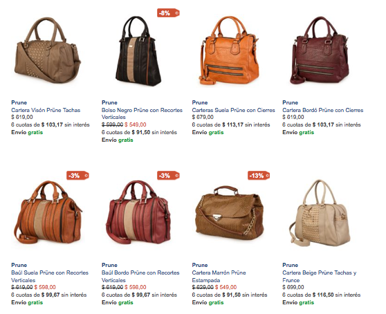 Carteras Prune Outlet online