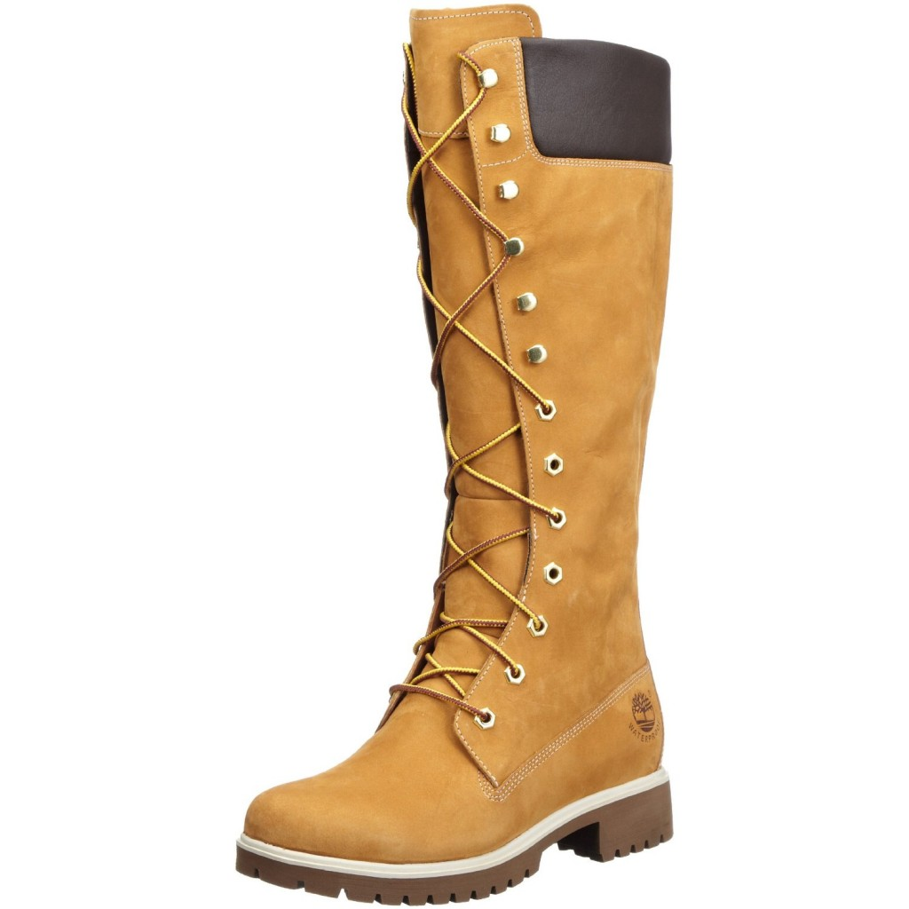 botas mujer caña alta beige Timberland Colombia