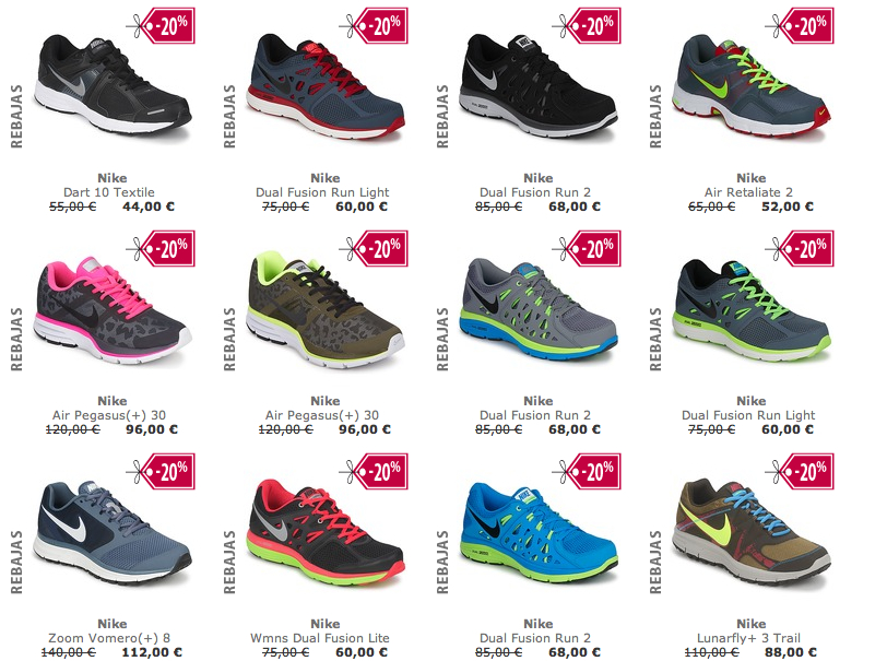 catalogo de zapatillas nike