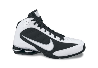 zapatillas Nike Basketball blanco con negro