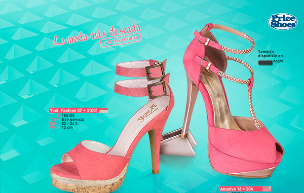 sandalias con pulsera al tobillo en color rosa Price Shoes 2014