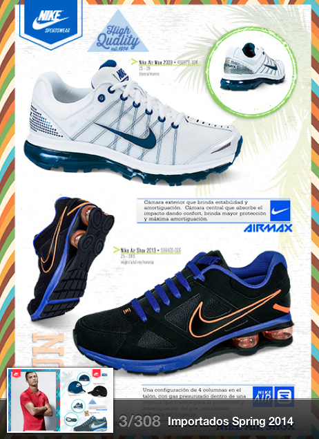 Catálogo Price Shoes importados 2014 tenis Nike Air Max