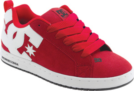 DC Shoes Argentina en color rojo con suela blanca baratos