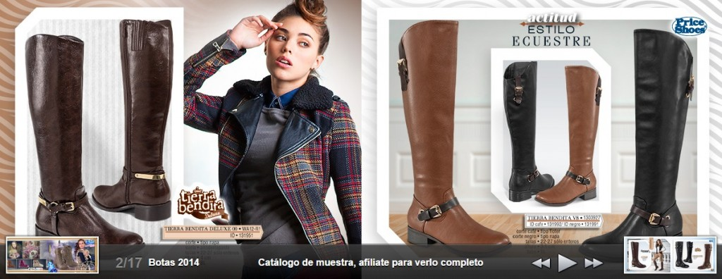 153a42f0 Price Shoes Botas Catálogo 2014 2015 - Completo!