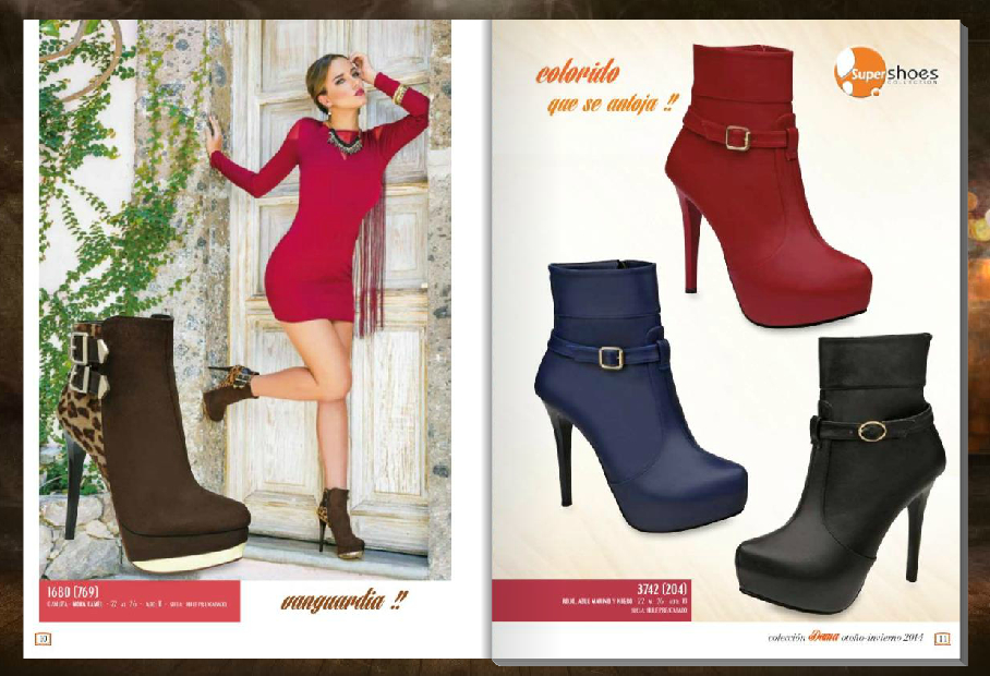 Botines en varios colores para dama de Super Shoes