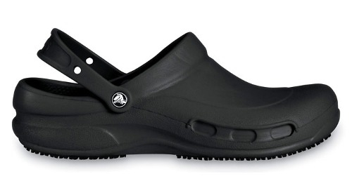 Zapatos para chef en color negro tipo Crocs