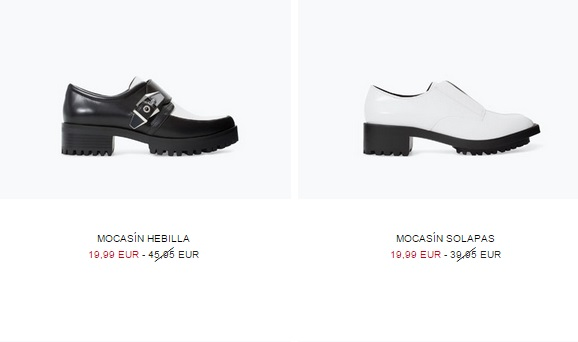 Mocasines de moda 2015 en color blanco y negro