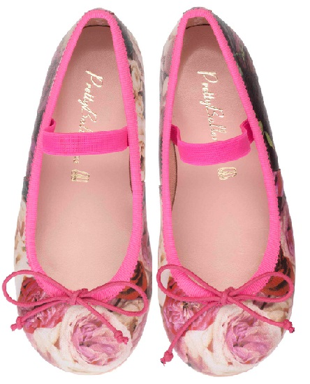 Pretty Ballerinas color fucsia con estampado floral