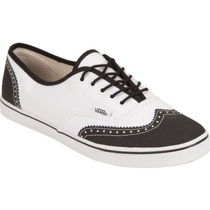 Vans Authentic Lo Pro en blanco y café
