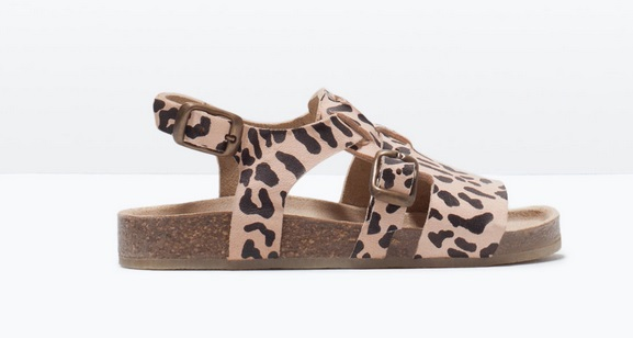 Sandalias con estampado Animal Print