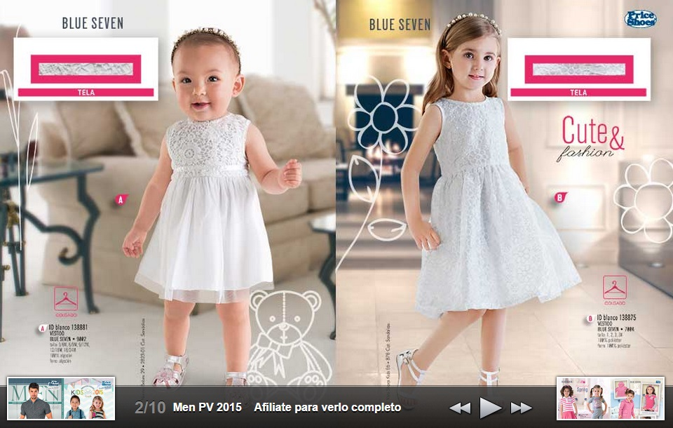 Vestidos para niña Blue Seven Cute & Fashion