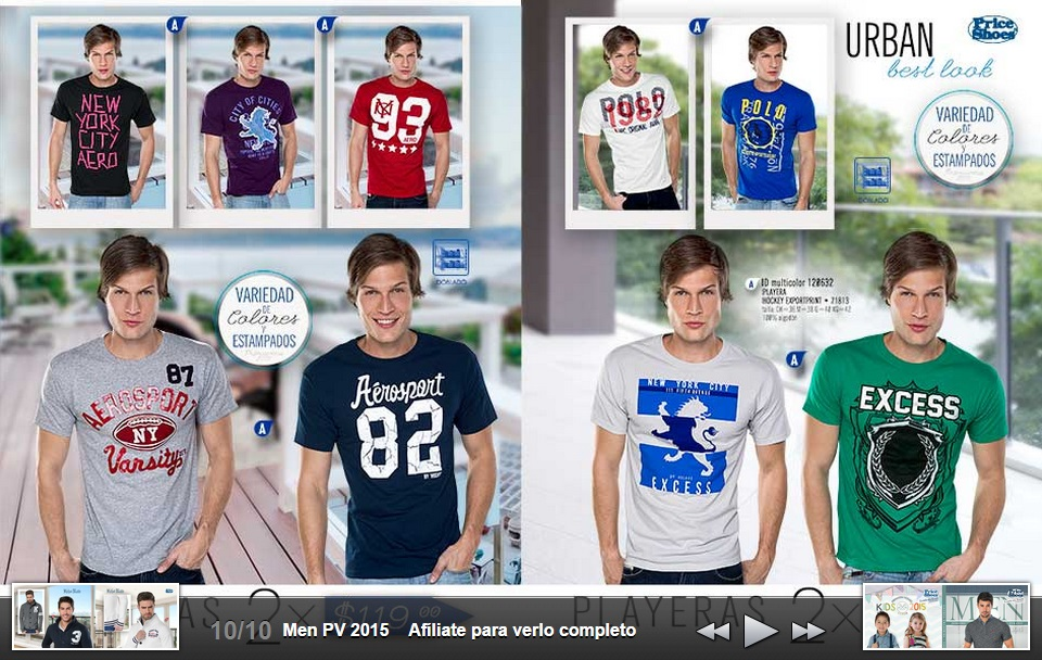Playeras con estampado original Men 2015