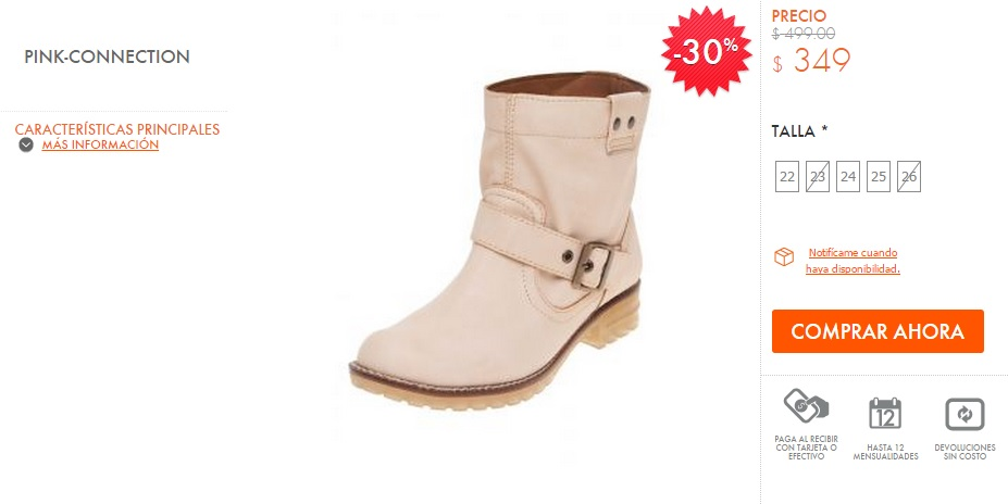 Botas Pink Connection con ofertas online