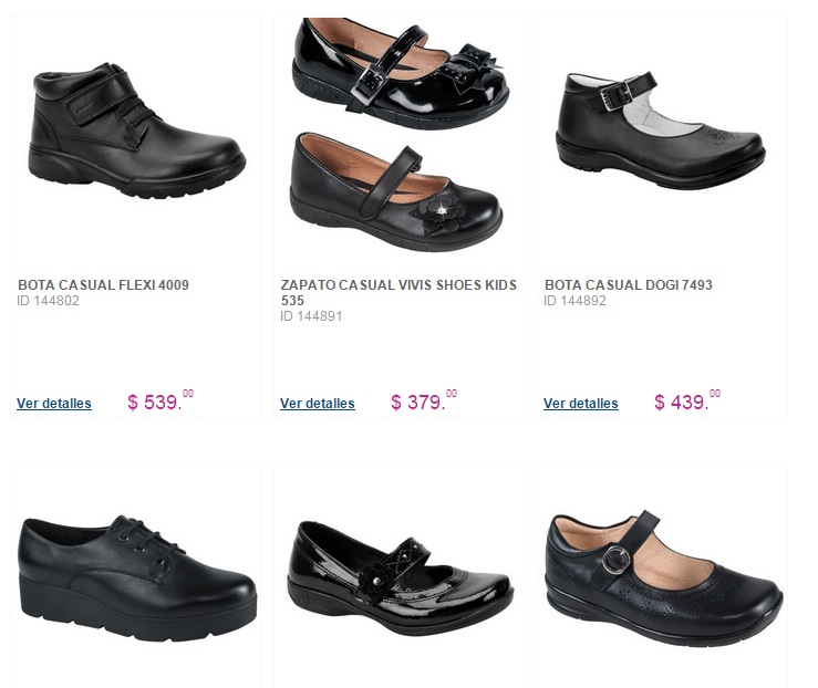 zapatos escolares para niña price shoes