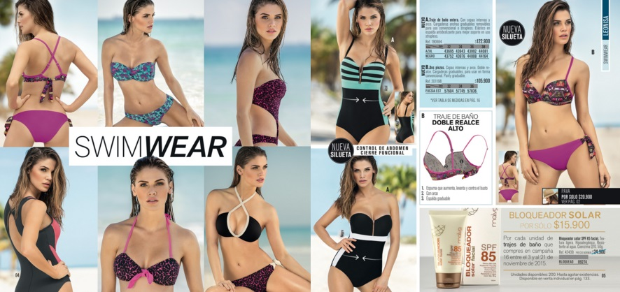 Leonisa cat logo virtual bikinis 2016 for Catalogos de banos 2016