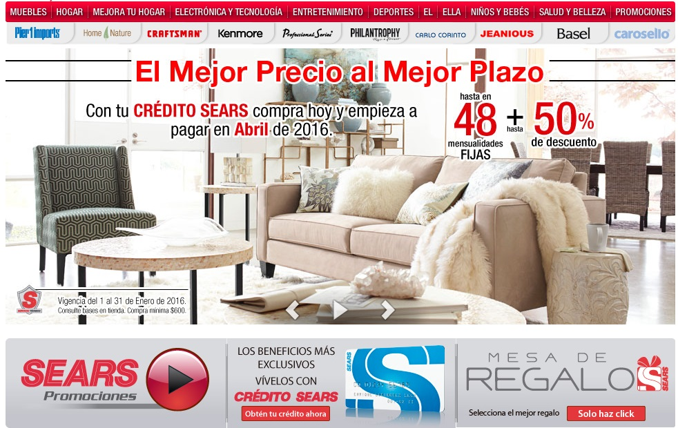 Ofertas exclusivas en Sears 2016