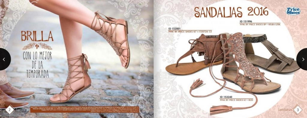 Sandalias Romanas en Price Shoes