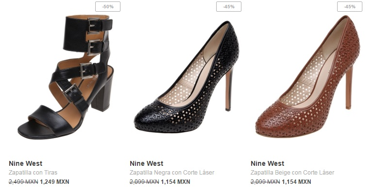 Zapatillas con tiras en Nine West