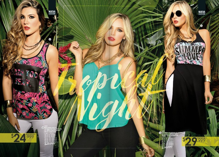 Blusas Tropical Night en Carmel 2016