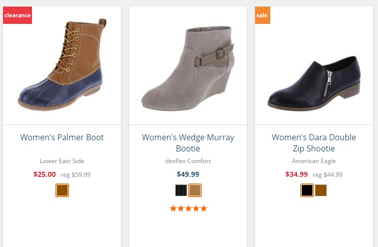 Botas Payless Shoes 2016