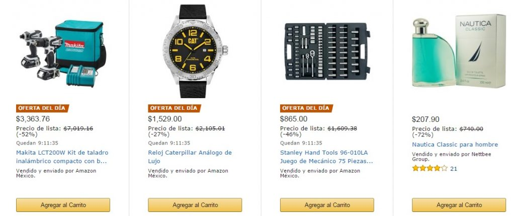Productos online en Amazon México