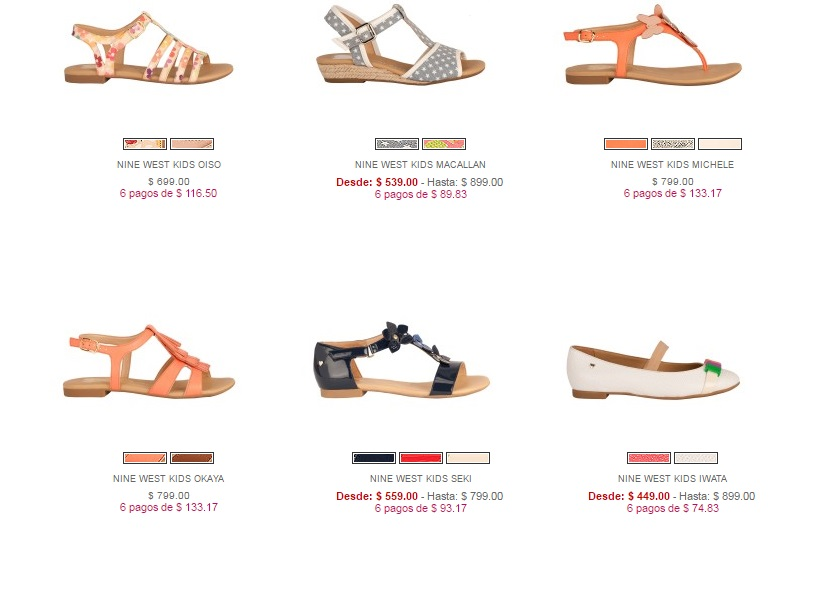 Sandalias Nine West Kids